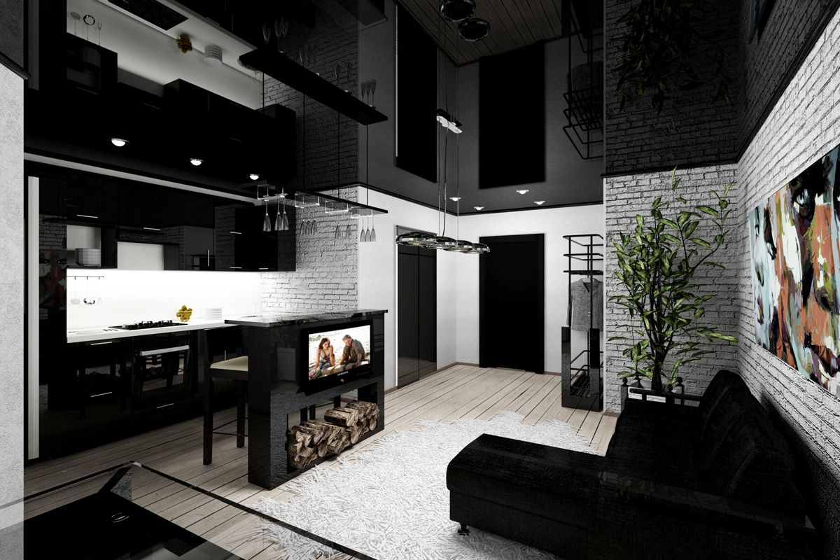 Дизайн студии для холостяка