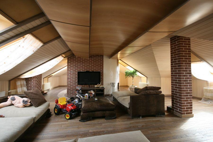 Квартиры дизайн мансарды