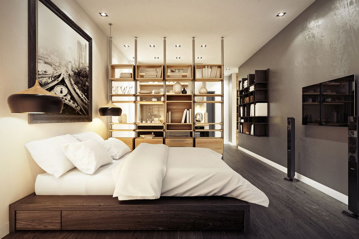 дизайн интерьера квартиры студии фото: